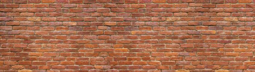 panorama brick wall, a broad band of the surface of masonry