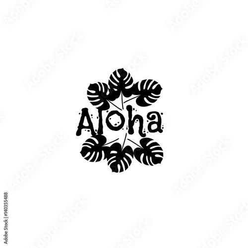 Printed kitchen splashbacks Aloha Hawaii Creative Vector Design Element. Palm leaves