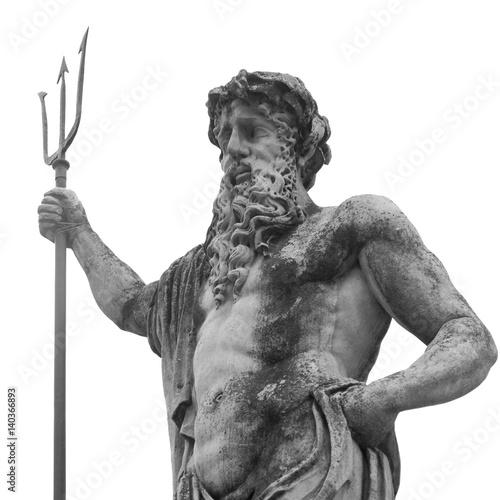 Zdjęcie XXL Starożytny posąg boga mórz i oceanów Neptuna (Posejdon)