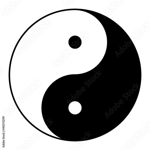 Photo  Ying yang symbol of harmony and balance
