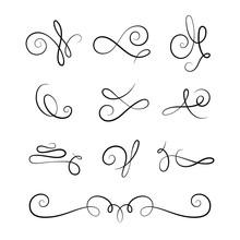 Scroll Elements, Set Of Vintag...