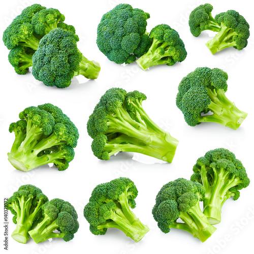 Fresh broccoli set