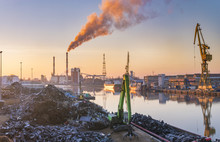 Industrial Areas On The River, Scrap Yard, Coal Plant, Port