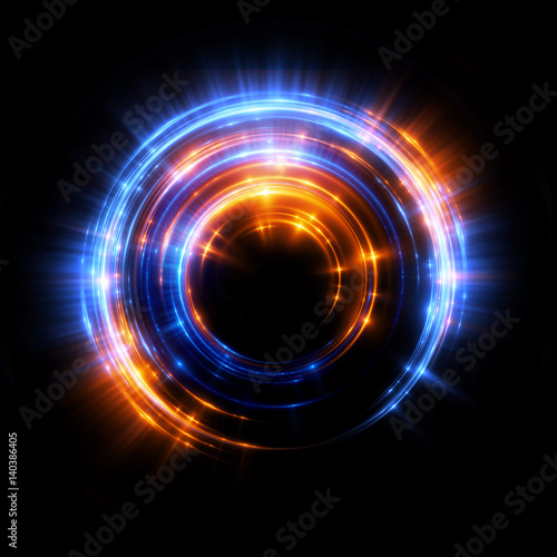 Photo Abstract neon background