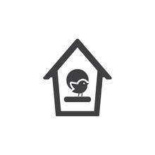 Bird Home Icon On The White Background