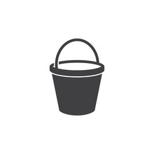 Bucket Icon On The White Background