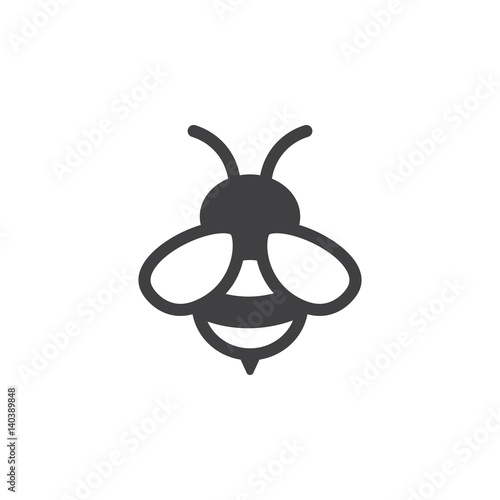 bee icon on the white background Fototapet