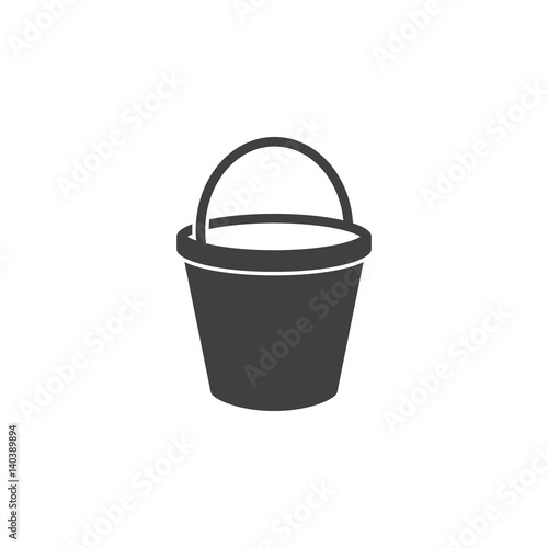 bucket icon on the white background Wall mural