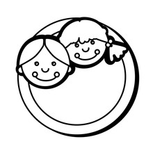 Cute Rag Dolls Icon Vector Illustration Design