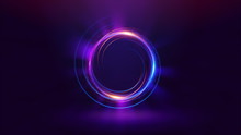 Abstract Neon Background. Luminous Swirling. Glowing Spiral Cover. Black Elegant. Halo Around. Power Isolated. Sparks Particle. Space Tunnel. Shimmer Color Ellipse. Glint Glitter