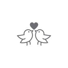 Love Bird Icon. Vector Illustr...