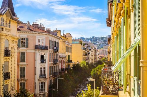 Deurstickers Nice Street in Nice, Cote d'Azur, French Riviera, France