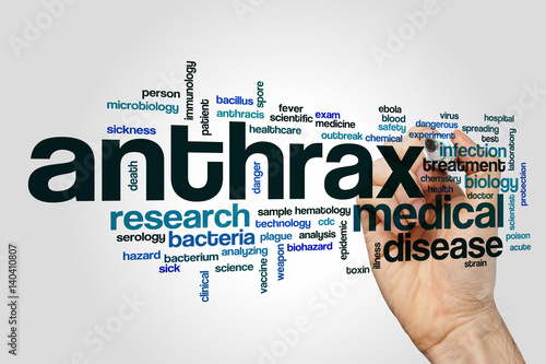 Anthrax word cloud concept Canvas Print
