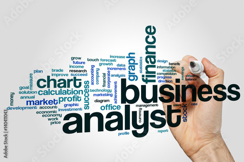 Business analyst word cloud Canvas Print
