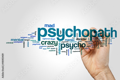 Foto Psychopath word cloud concept