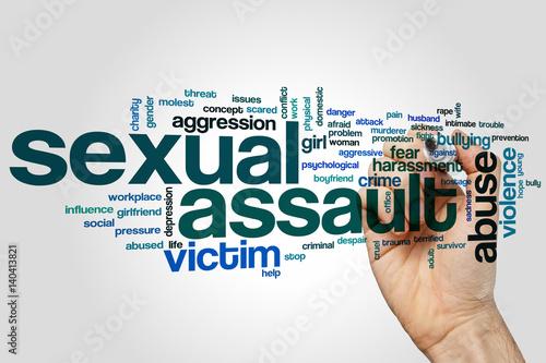 Photo Sexual assault word cloud