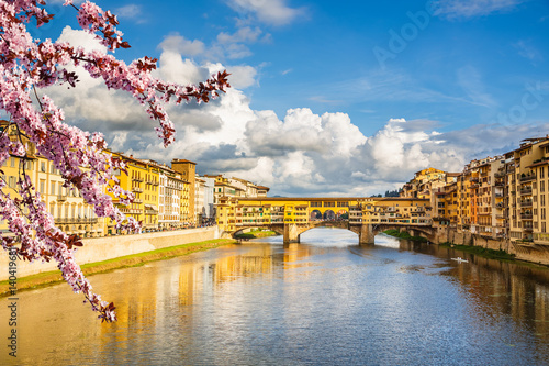 Aluminium Prints Florence Arno river in Florence at spring, Italy