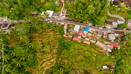 Photo sur Toile Les champs de riz Top view Tegalalang Rice Terrace in Ubud, Bali, Indonesia.