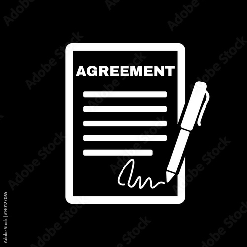 Agreement Icon Contract And Signature Pact Accord Convention