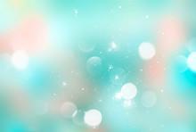 Blue Cyan Blurred Magic Soft Background.