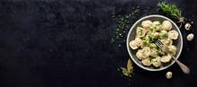 Traditional Russian Pelmeni, R...