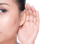 Woman With Hearing Loss Or Har...