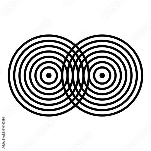 Scheme of interference Canvas-taulu