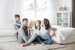 Leinwanddruck Bild - Familie lifestyle