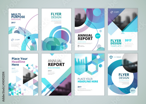 Brochure annual report flyer design templates in a4 size set of brochure annual report flyer design templates in a4 size set of vector illustrations wajeb Images