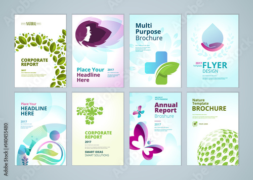 Healthcare And Natural Products Brochure Cover Design And Flyer