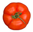 canvas print picture - Bio organic beef or Beefsteak tomato isolated on white background, top view