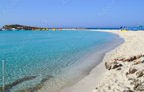 Spoed Foto op Canvas Cyprus Beautiful lagoon beach on Cyprus island near Ayia Napa