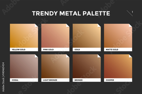 Fotografie, Obraz Gold, copper and bronze gradient template