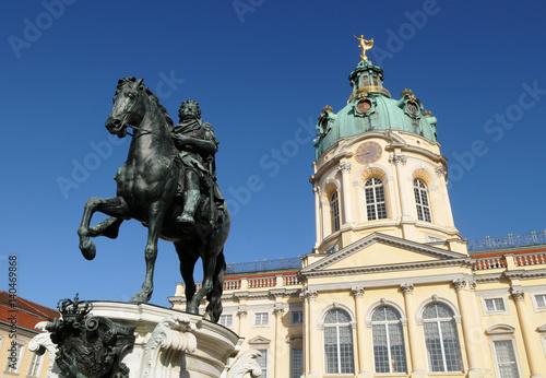 Zdjęcie XXL Schloss Charlottenburg (Pałac Charlottenburg). Jest to największy pałac i jedyna zachowana rezydencja królewska w mieście Berlin, Niemcy