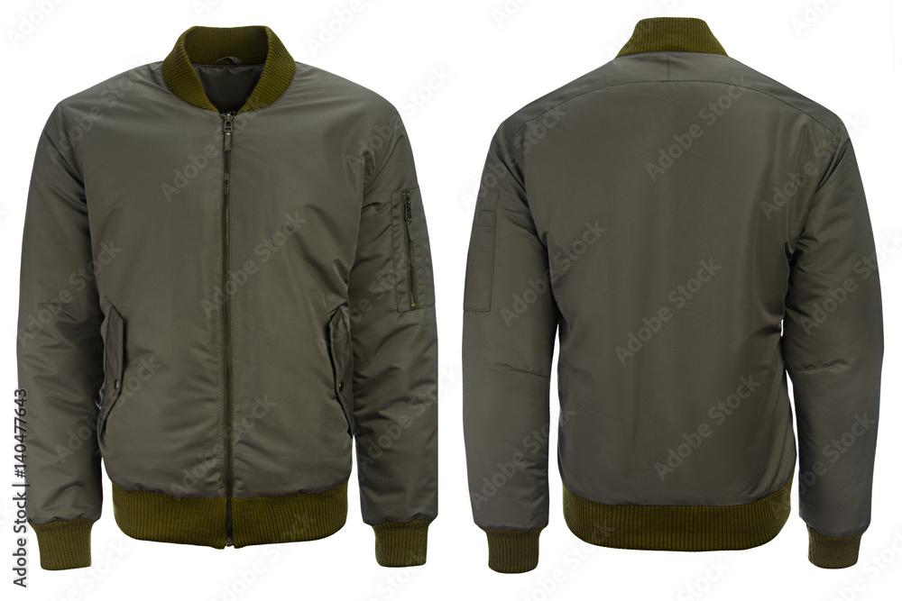 Fototapeta Green jacket with a hood