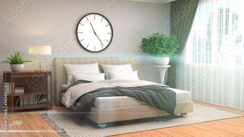 Fototapety, obrazy: Bedroom interior. 3d illustration
