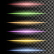 Multicolor glowing particles of light