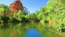 River With Rock Formation In B...