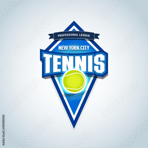 Tennis Isolated Badge Logo Template Sport T Shirt Graphics Club Emblem College League Tournament Championship Design