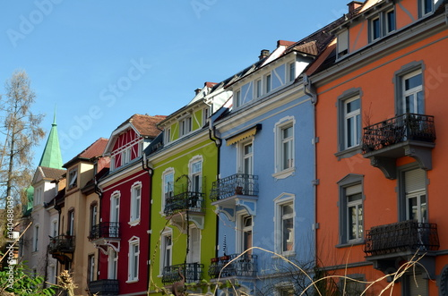 Bunte Hausfassaden In Freiburg Buy This Stock Photo And Explore