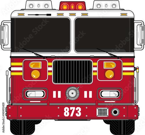 Fotomural Cartoon Fire Engine