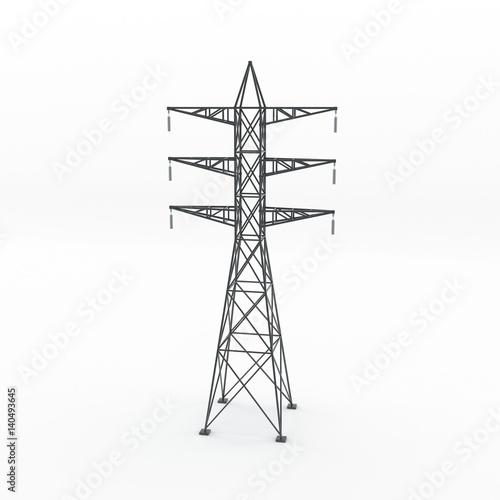 Valokuva  Power transmission tower. 3D rendering illustration.
