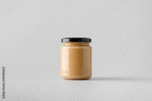 Peanut / Almond / Nut Butter Jar Mock-Up Fototapeta