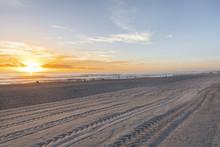 Beach Sunrise On Surfers Paradise Gold Coast, Australia