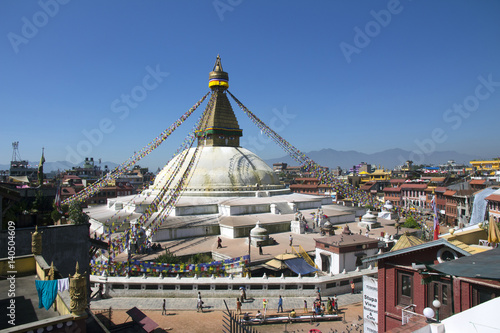 Staande foto Nepal Stupa of Buddhist Temple in Nepal