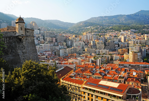Panorama view on Le Condamine district in Monaco