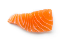 Salmon Sliced Isolated On A White