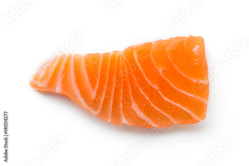 Fotografie, Obraz  salmon sliced isolated on a white