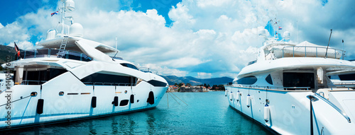 Beautiful, luxury yachts. Traveling, yachting, sailing concept.
