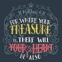 For Where Your Treasure Is, Th...